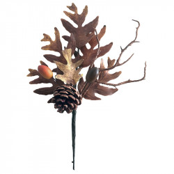 Höstgren med kottar, 29 cm, konstgjord gren
