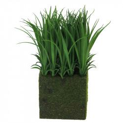 """Græs i """"høj""""plade, 25cm, kunstig græs"""