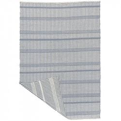 Utomhusmatta, med blåa ränder, PVC, 180 x 120 cm