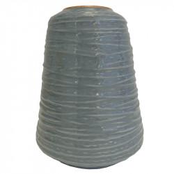 Vase i garnnøgle-form, 12cm Grå