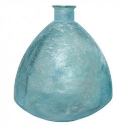 Buttede Vase, antik look, lyseblå, H44cm