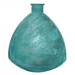 Buttede Vase, antik look, aqua, H44cm
