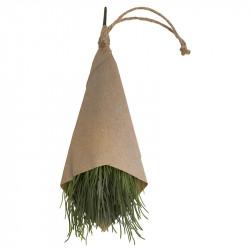 Kryddört, Gräslök 32 cm i pappersomslag, konstgjord växt