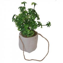 Kyddört Persilja i jutepåse med upphängning, konstgjord växt