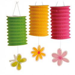 Ranke med 6 folde-lanterner, 360cm