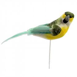 Fugl på 18 cm pind, 17cm turkis, kunstig dyr