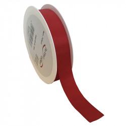 25 mm Satinband med kantsöm, Röd