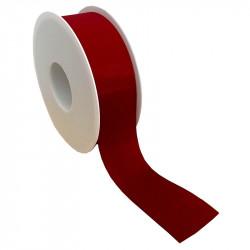 40mm Taftbånd med sømkant, Rød