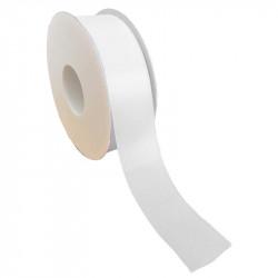 40mm Taftbånd med sømkant, Hvid