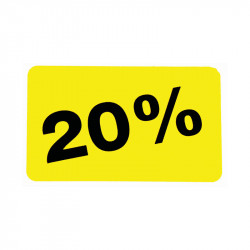 Etiketter, 20%