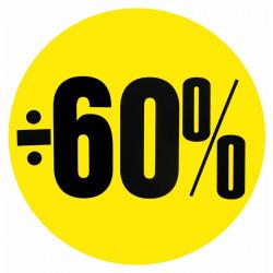 Cirkelaffisch, Gul ÷ 60%