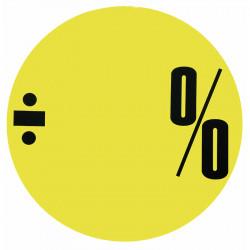 Cirkelaffisch, Neongul ÷ % utan siffror