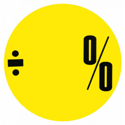 Cirkelaffisch Gul ÷ % utan siffror
