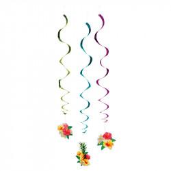 Dekorationsspiraler »Hawaii« dubbelsidiga, 3 st./set