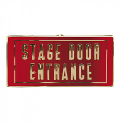 """Skilt med teksten """"Stage door entrance"""""""