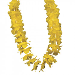 Hawaii-krans, 55 cm Gul