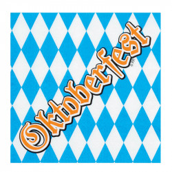 Servetter med Oktoberfest-print, 12 st.