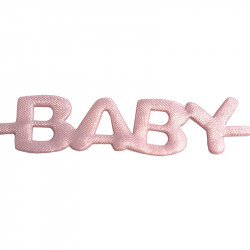 BABY-bokstavsband utstansat, 1,8 m rosa