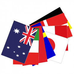 Flagranke, international, 10 flag 4,5 m 20x27 cm