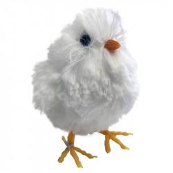 Kylling, 9cm med små vinger i hvid