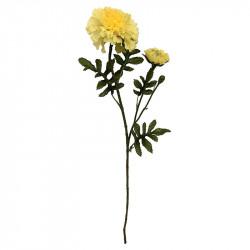 Sammetsblomma med 2 huvuden, 65 cm, Gul, konstgjord blomma