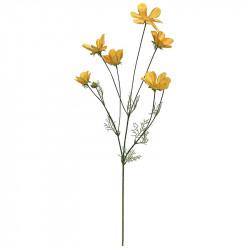 Rosenskära, gul, 92cm, konstgjord blomma
