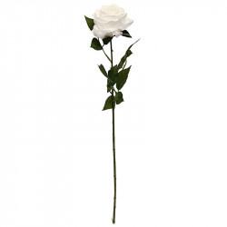 Rose Dijon, hvid, 64cm, kunstig blomst