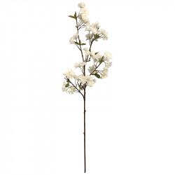 Æblegren m blomster, 95cm, hvid, kunstig plante