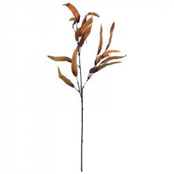 Eukalyptus gren, orange, H:70cm, kunstig gren