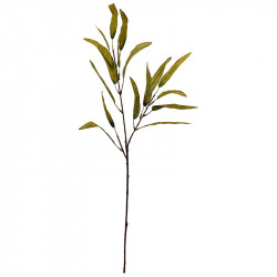 Eukalyptusgren, ljusgrön, H: 70 cm, konstgjord gren