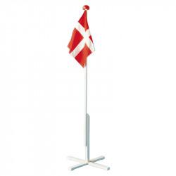 Flaggstång 150 cm med kryssfot och fastmonterad dansk flagg