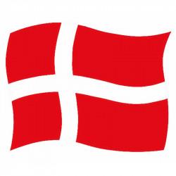 Selvklæbende flag, Dannebrog,  A4, (10 stk./pk.)