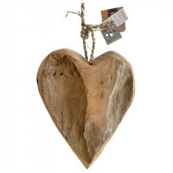 Hjärta i trak, H: 33 cm