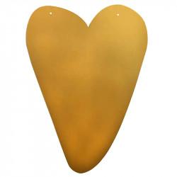Guldhjärta för upphängning, ca H61cm