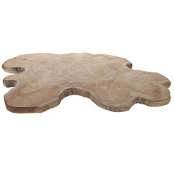 Träskiva i teak för dekoration Ø: 50-60cm