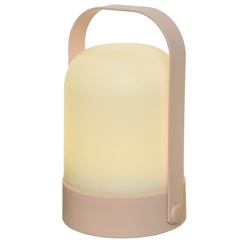 LED-bordslampa, Batteri, Rosa, 18cm