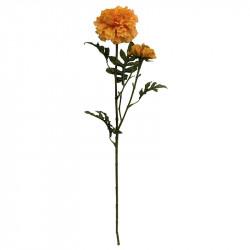 Tagetes m 2 blomhuvuden, 64cm, ljusorange, konstgjord blomma