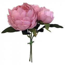 Pion - Silkespion, Rosa, 20 cm, Konstgjord Blomma