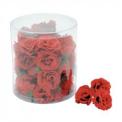 Roshuvuden, 48 st/förpackning, röd, konstgjord blomma
