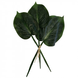 Hostablad, 3 st., 40-45 cm, konstgjorda blad