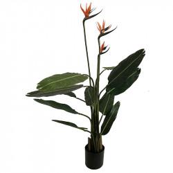 Paradisblomster med 3 blommor, konstgjord växt