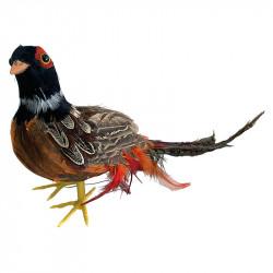 Fasan, stående, ca. L35cm, kunstig dyr