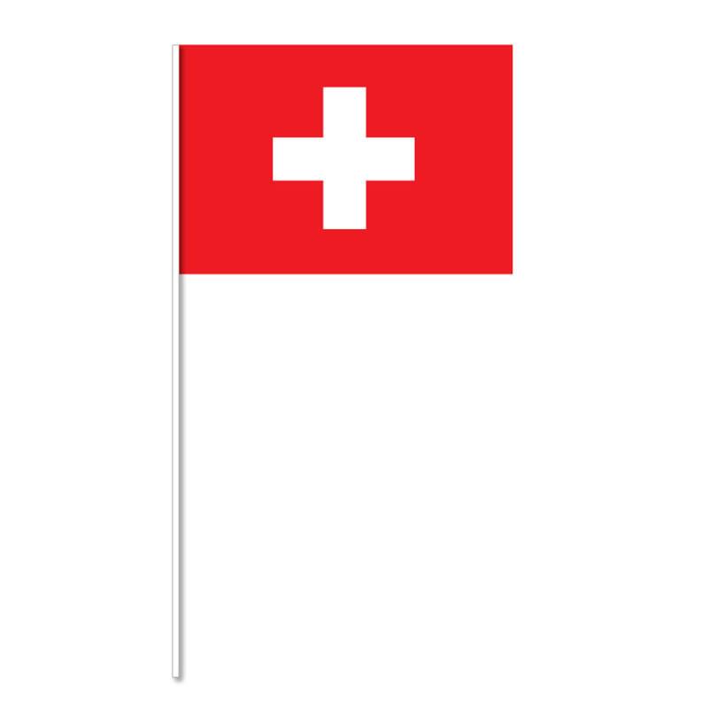 Flagga på plastpinne, Schweiz