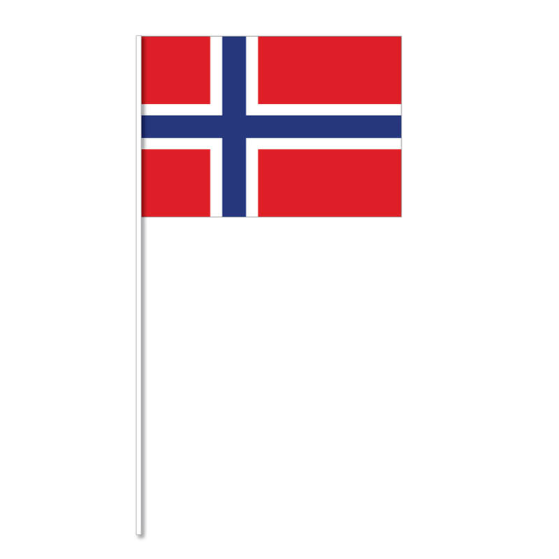 Flagga på plastpinne, Norge