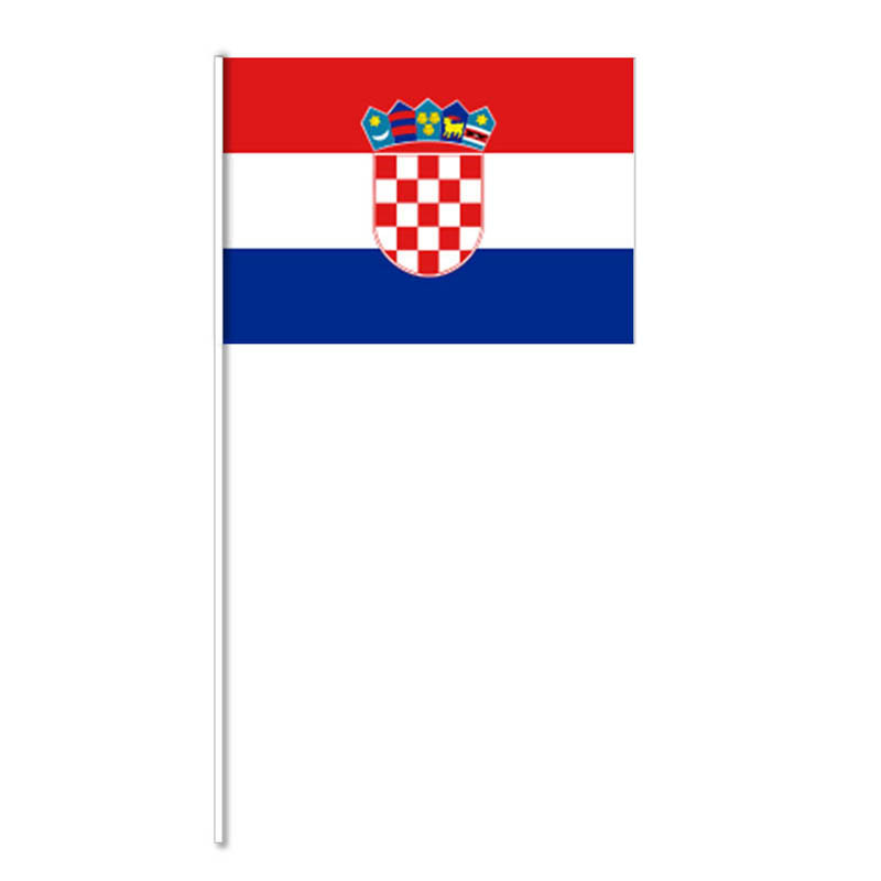 Flagga på plastpinne, Kroatien