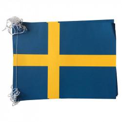 Flagranke, Sverige, 10 flag 4,5 m 20x27 cm