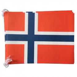Flagranke, Norge, 10 flag 4,5 m 20x27 cm