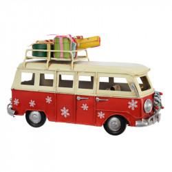 Buss med presenter på taket för dekoration