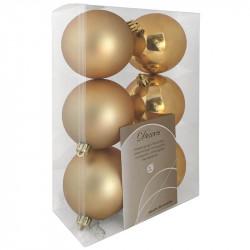Julgranskulor, guld, 8 cm, 6st./förpackning
