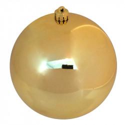 Julekugle, guld,14cm, blank